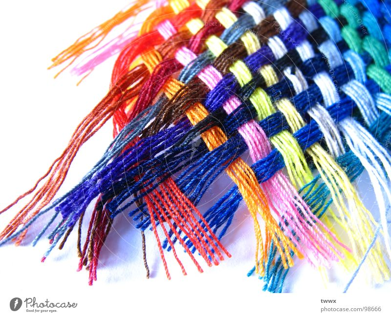 Proximity! Handcrafts Rope Art Fashion Clothing Network Colour Sewing thread Textiles Textile industry Intensive Plaited Bond Delicate Fringe Clarity