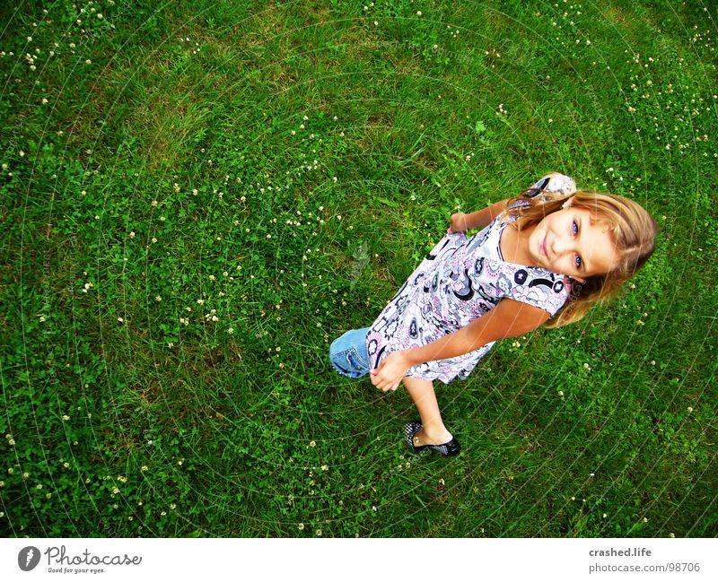 Youth (Young adults) Green Eyes Hair and hairstyles Grass Knee Bend Grass green Ballerina