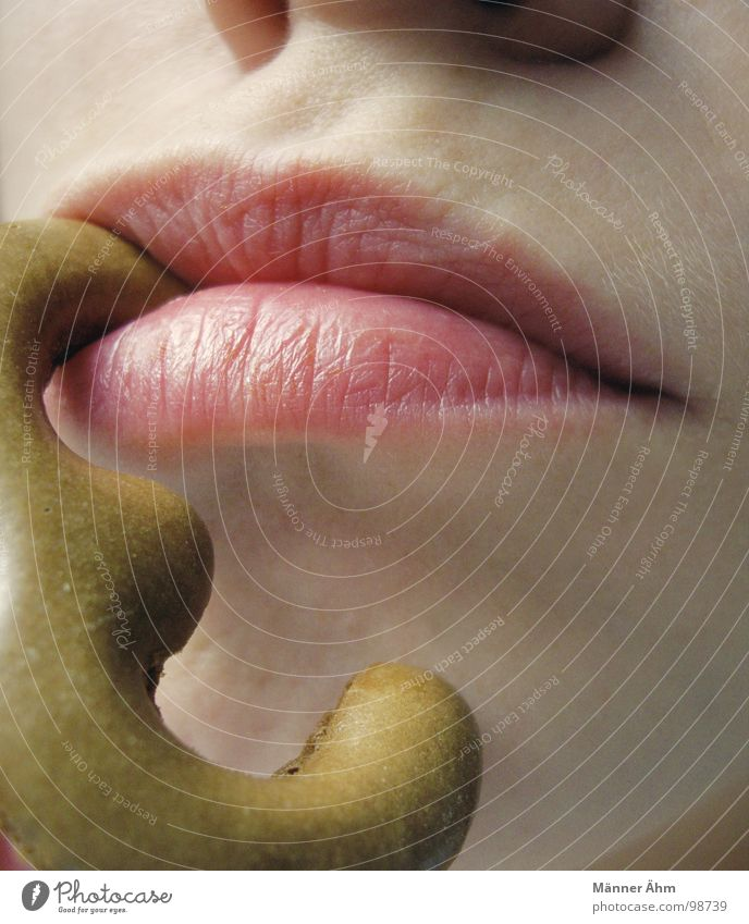Woman Nutrition Mouth Sweet 3 Digits and numbers Lips Cake Baked goods Crumbs Suspended Russian bread