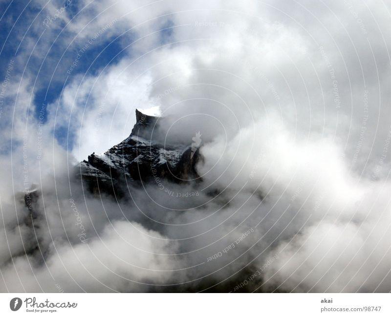 Mountain Fear Fog Dangerous Threat Switzerland Fantastic Creepy Panic Concern Eerie Unclear Ambiguous Hazy Spooky Harrowing