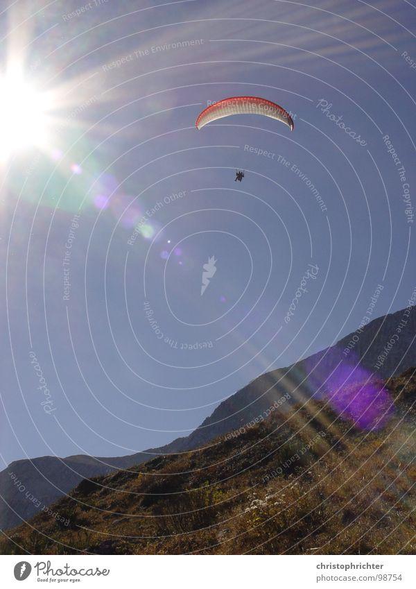 paragliding flight Paraglider Light Glide Sports Funsport Flying Sun Sky Mountain Alps