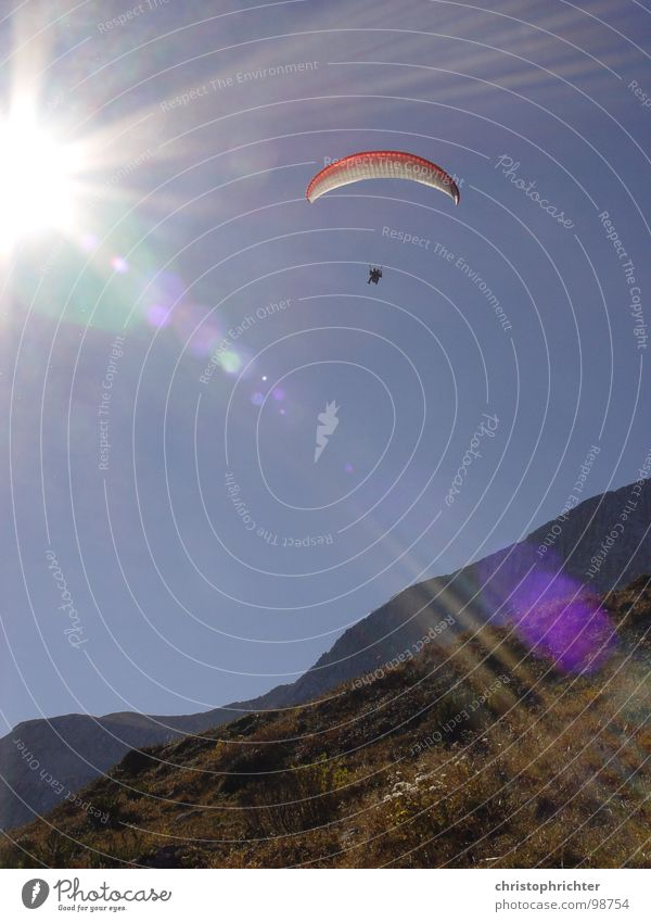 Sky Sun Sports Mountain Flying Alps Funsport Paraglider Glide