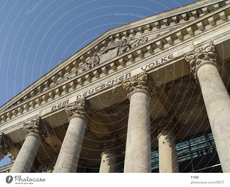Reichstag Dem deutschen Volke Architecture