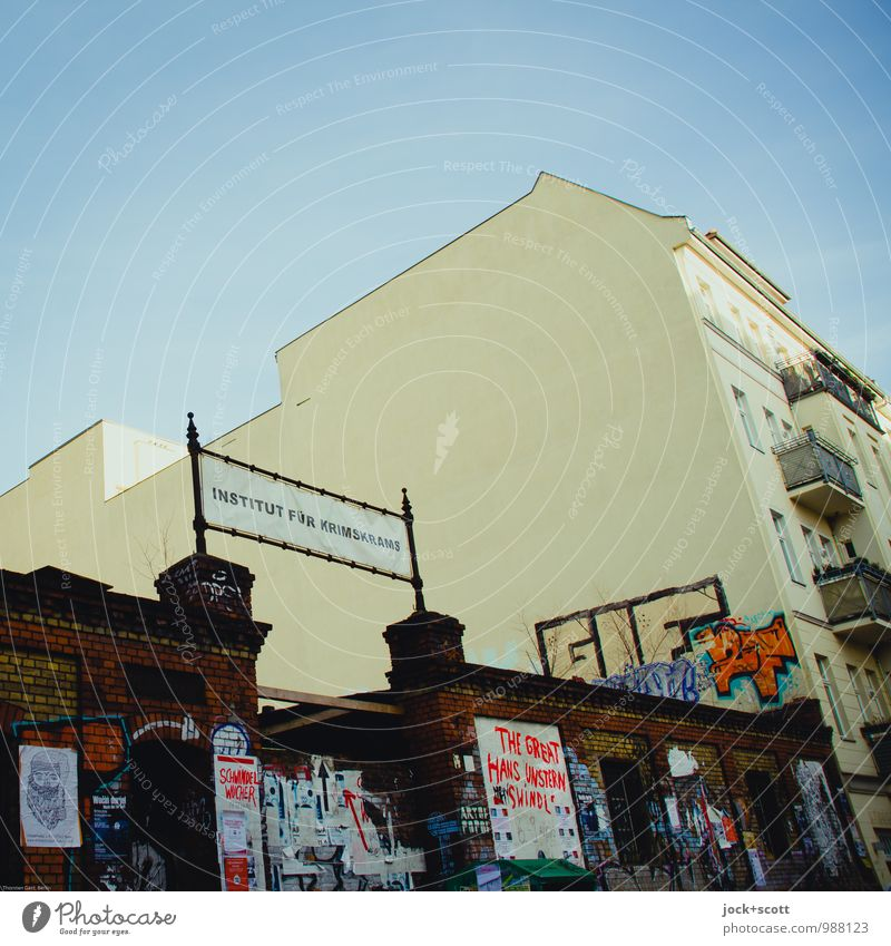 City Joy Graffiti Funny Crazy Creativity Idea Uniqueness Tilt Target Flag Passion Cloudless sky Word Trashy Street art