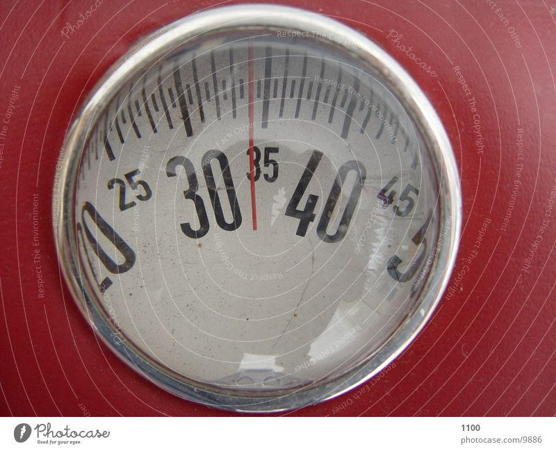 Red Digits and numbers Easy Weight Display Scale Anorexia Kilogram Psychological disorder Body weight Underweight