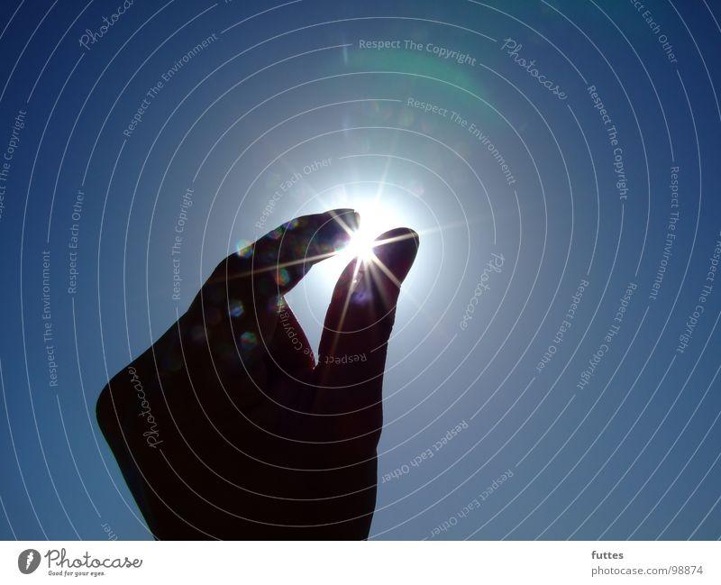 rough diamond Hand Air Fingers Summer Sun Sky Blue blink