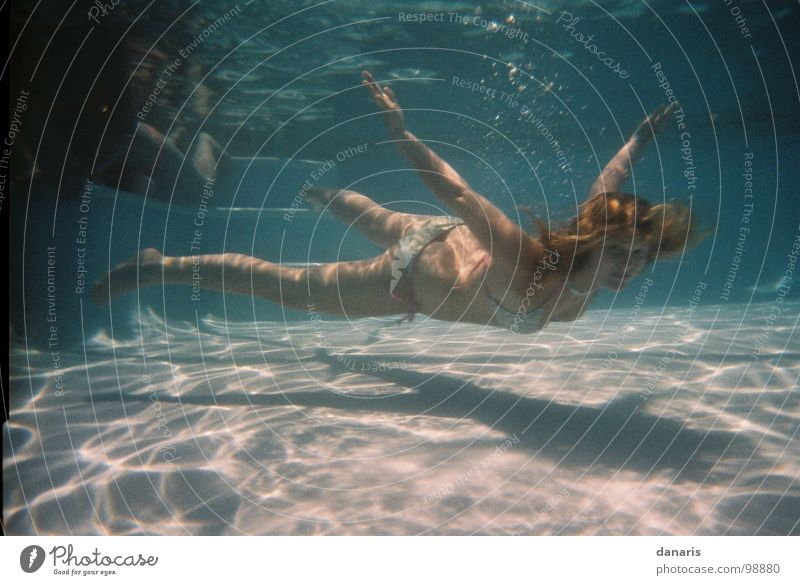 Water Flying Swimming pool Dive Deep Underwater photo