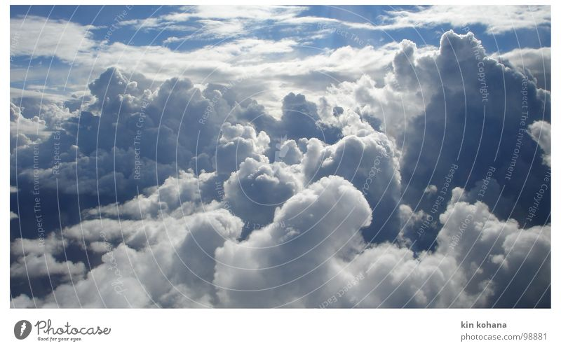 Sky White Blue Vacation & Travel Clouds Far-off places Air Hope Aviation Transience Infinity Expectation Horizontal clouds Sky only