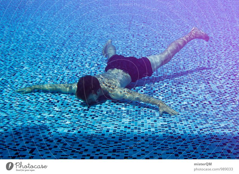 chill III Art Esthetic Contentment Swimming & Bathing Float in the water Dive Floor covering Swimming pool Accident Pain Ouch Swimming trunks Vacation & Travel
