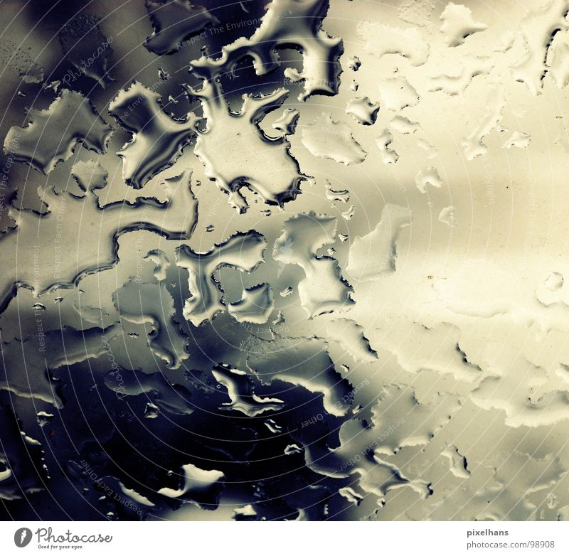 a storm is comming White Wet Clarity Dreary Afternoon Clouds Water Contrast Bright Blue Weather Pane Rainwater Drops of water Background picture