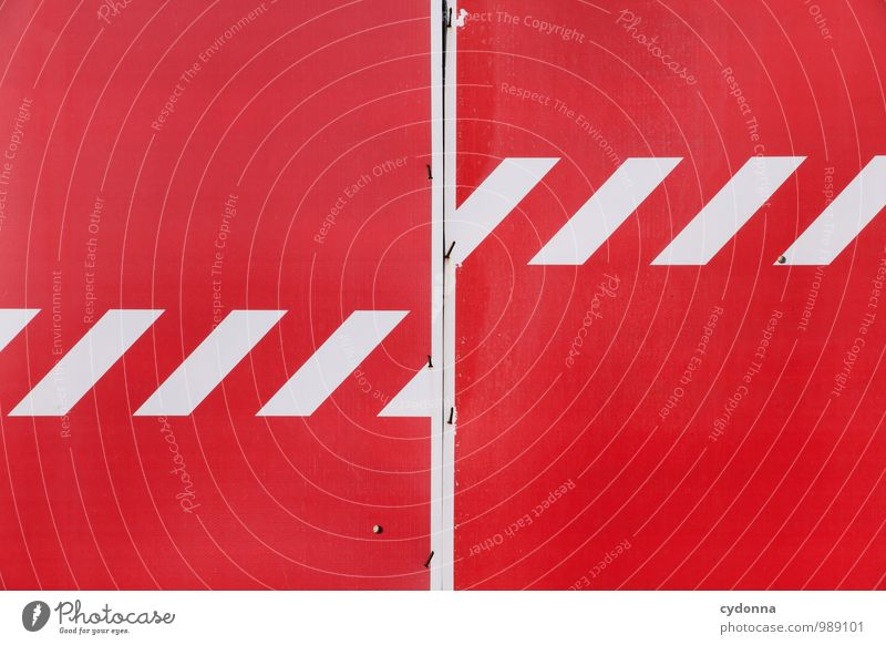 Colour Red Wall (building) Freedom Arrangement Signs and labeling Signage Threat Stripe Sign Construction site Planning Protection Safety Mysterious Stop