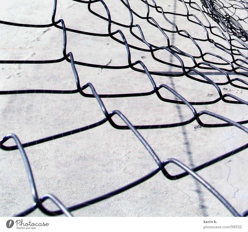 wire mesh fence Wire netting fence Fence White Black Wall (barrier) Pattern Loop Gray Iron Craft (trade) Net Metal Black & white photo