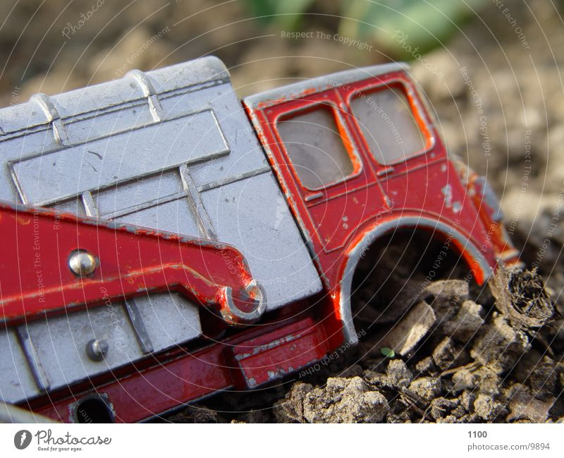 Technology Broken Toys Truck Macro (Extreme close-up) Electrical equipment Garbage truck