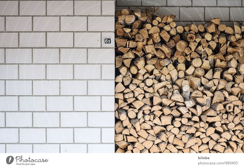 Trash! ¦ The heating period has begun Winter Stone Wood Environment wood beige Firewood House wall Wall (barrier) Fuel Nature Symbols and metaphors
