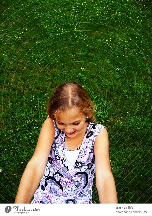 hanging Green Grass Grass green Dark green Dress Part Blonde Joy Child Youth (Young adults) Janina Hair and hairstyles Arm Face Nose Mouth Eyes Detail