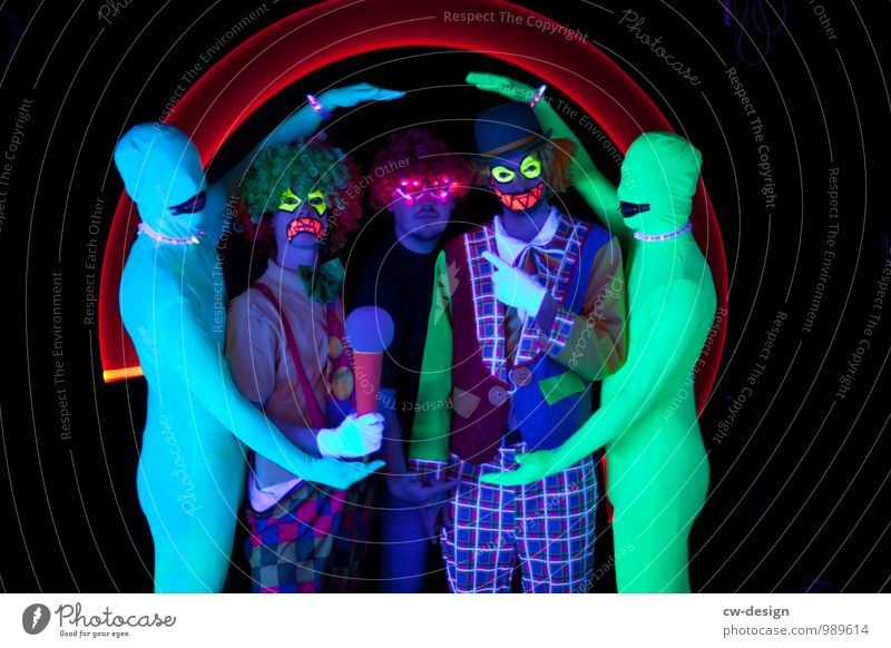 SCHORSCH & The Straitjackets Lifestyle Joy Leisure and hobbies Masculine Young man Youth (Young adults) Man Adults Friendship 5 Human being 18 - 30 years