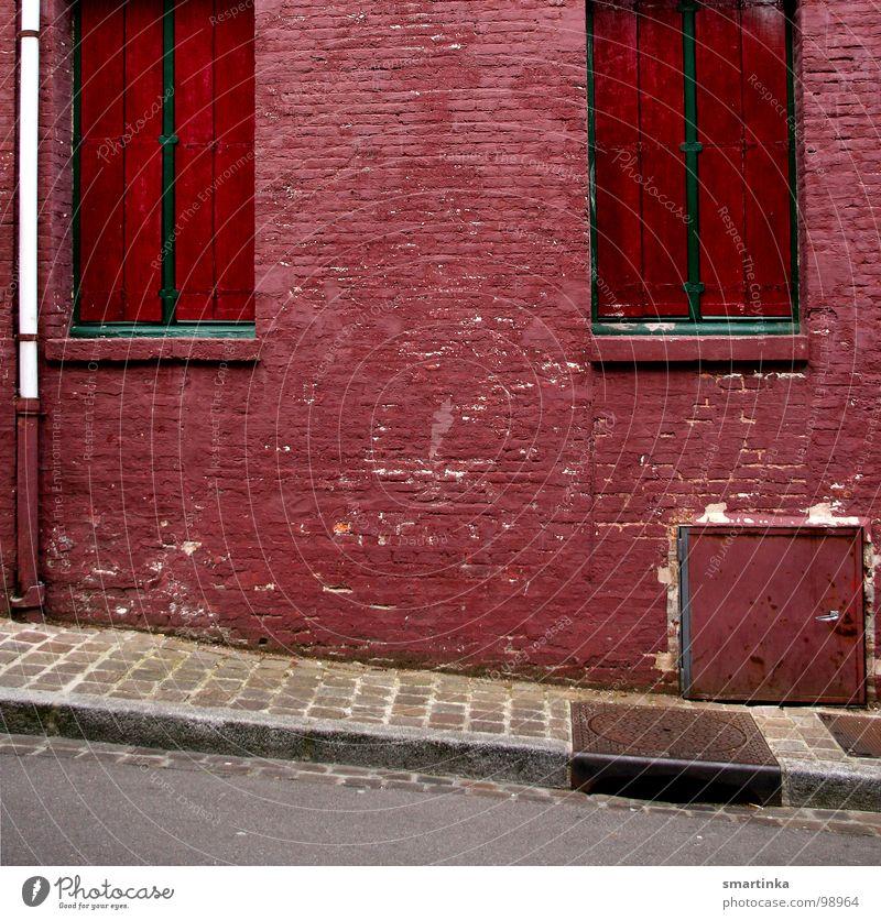 Loneliness Wall (building) Window Facade Closed Broken Derelict Sidewalk Entrance Slope