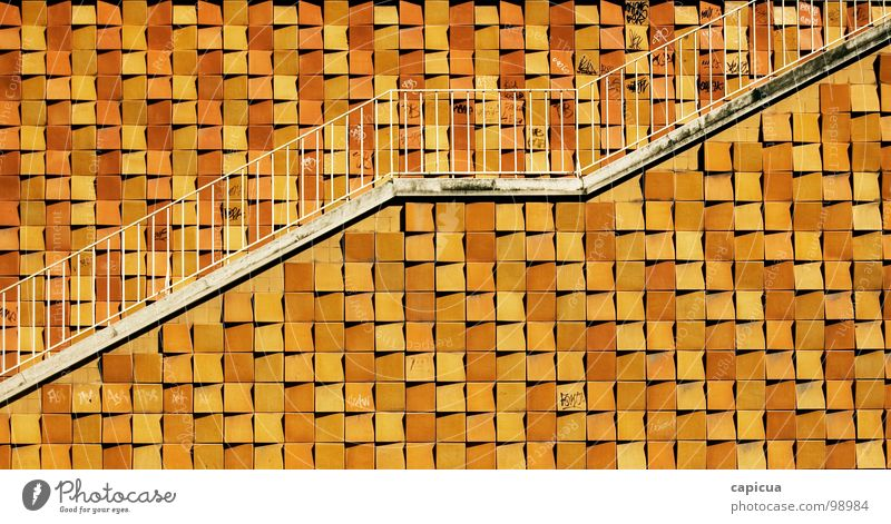 Stairway Positive Yellow Summer Town Lisbon Plus Detail Success geometrical minimalist architechture stairs up path upward ascent graphic growth sunny gain