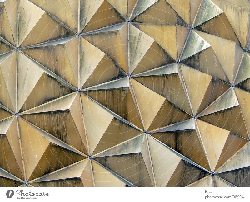 Building Line Metal Dirty Architecture Corner Roof Geometry Dust Symmetry Placed Triangle Domed roof Pyramid Gutter Niche