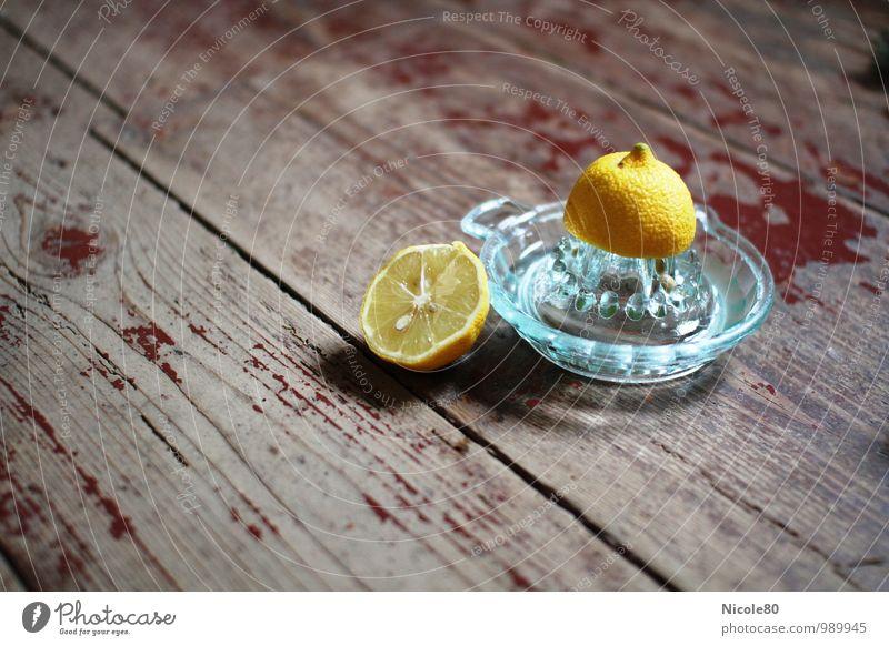 vitamin C Food Sour Lemon Yellow citrus fruit Lemon squeezer Old Vintage vitamins Fruit Healthy Eating Fresh Colour photo Deserted Copy Space left