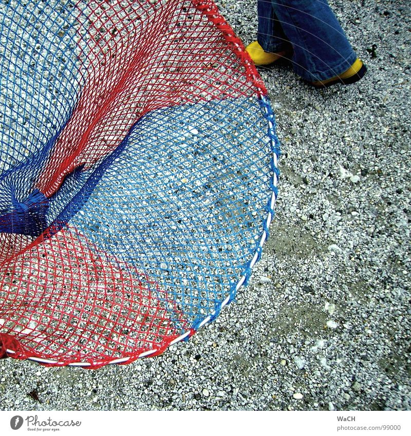 Blue Red Yellow Legs Leisure and hobbies Catch Net Hunting Collection Fishing (Angle) Catching net Pebble Rubber boots Quiver Blue-red Butterfly net