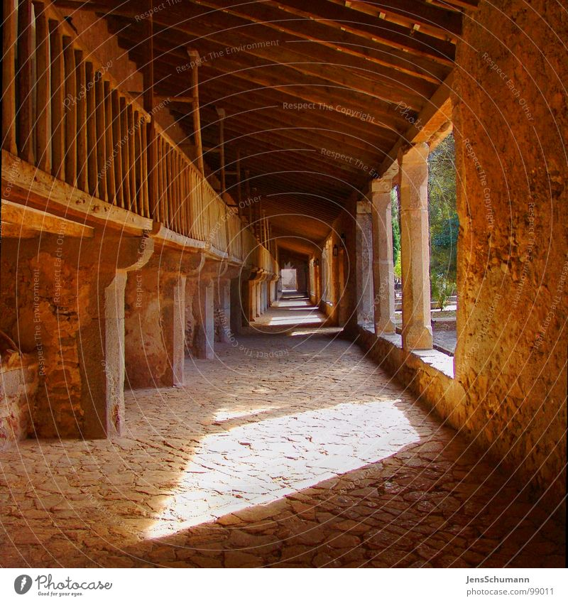 The passage into... Sun Monument Nun Majorca Spain Belief Religion and faith Mood lighting Deities House of worship DeLluc Monastery Road marking