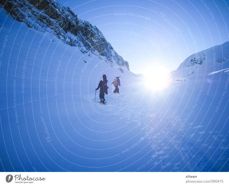 Human being Sky Nature Youth (Young adults) Blue White Winter 18 - 30 years Cold Adults Snow Sports Group Going Bright Rock
