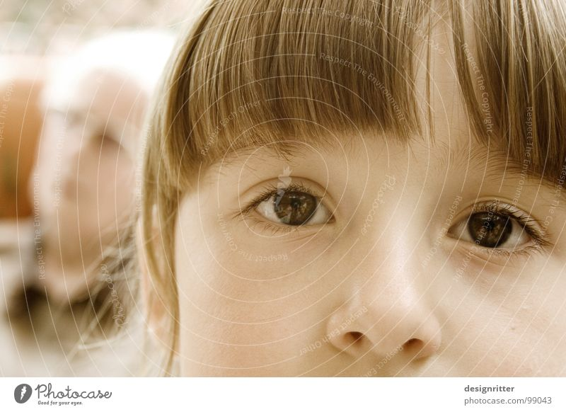 Child Girl Face Eyes Hair and hairstyles Sadness Nose Family & Relations Bangs Generation Partially visible Section of image Grandchildren Children's eyes