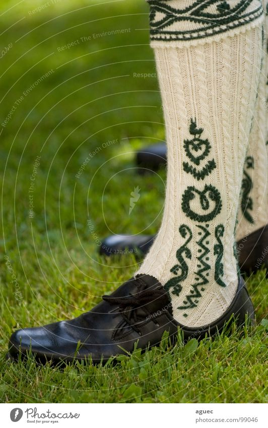 Green Black Grass Feet Footwear Legs Art Rope Stand Decoration Culture Bavaria Pattern Tradition Beige Vertical