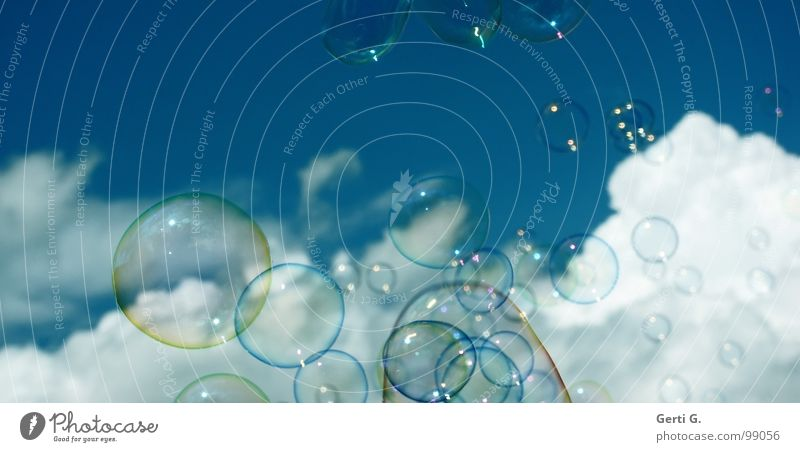 Sky Joy Clouds Air Dream Flying Happiness Soft Delicate Blow Hover Soap bubble Difference Foam Air bubble Heavenly