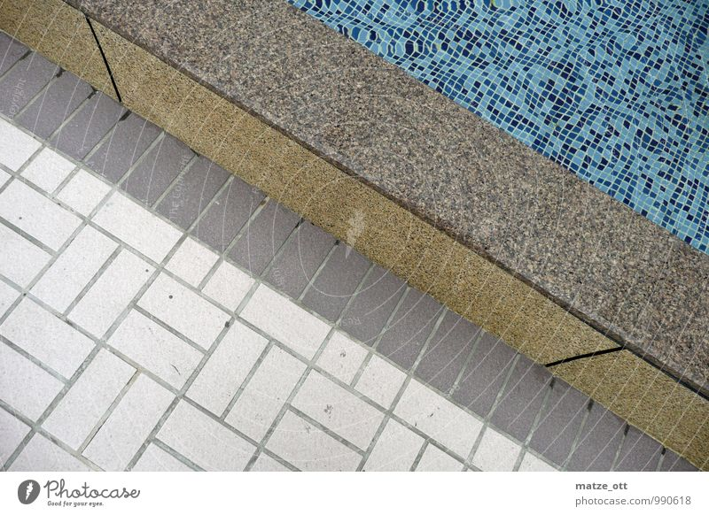 Tiles, tiles and a wall Style Wellness Senses Relaxation Bathroom Swimming pool Wall (barrier) Mosaic Swimming & Bathing Architecture Deserted Wall (building)