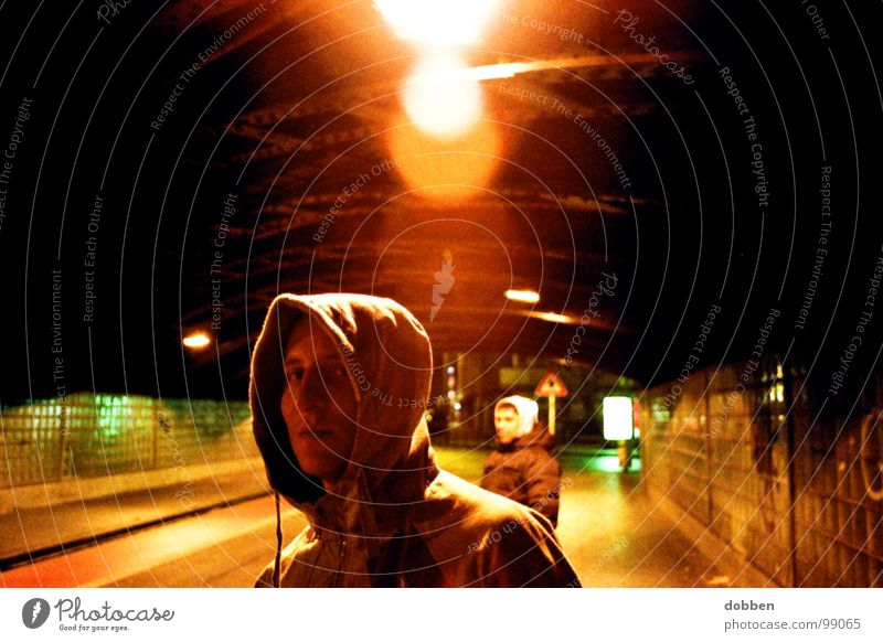 Man Youth (Young adults) Hand City Yellow Dark Life Cold Style Lamp 2 Fear Leisure and hobbies Wait Walking Dangerous