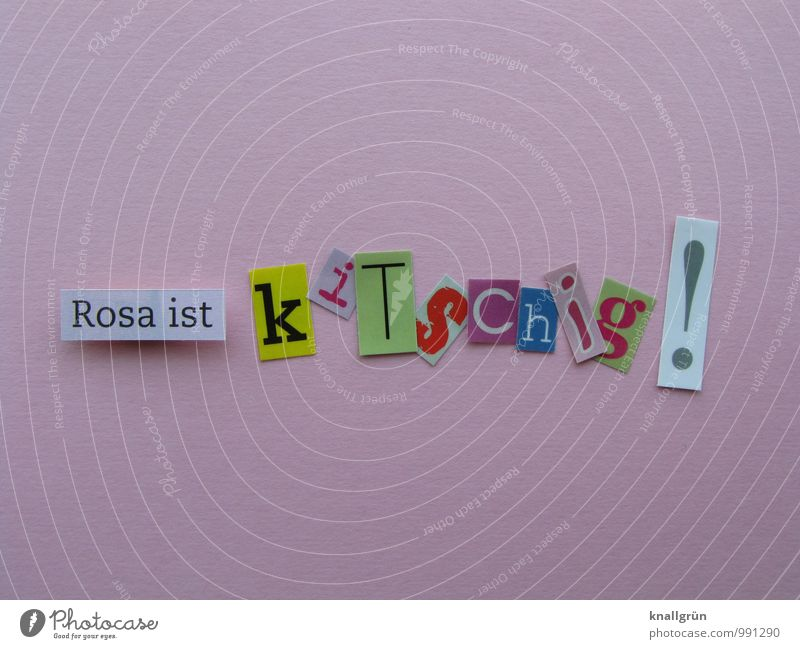Rosa is cheesy! Sign Characters Signs and labeling Communicate Happiness Uniqueness Kitsch Multicoloured Pink Emotions Joy Colour Idea Inspiration Creativity
