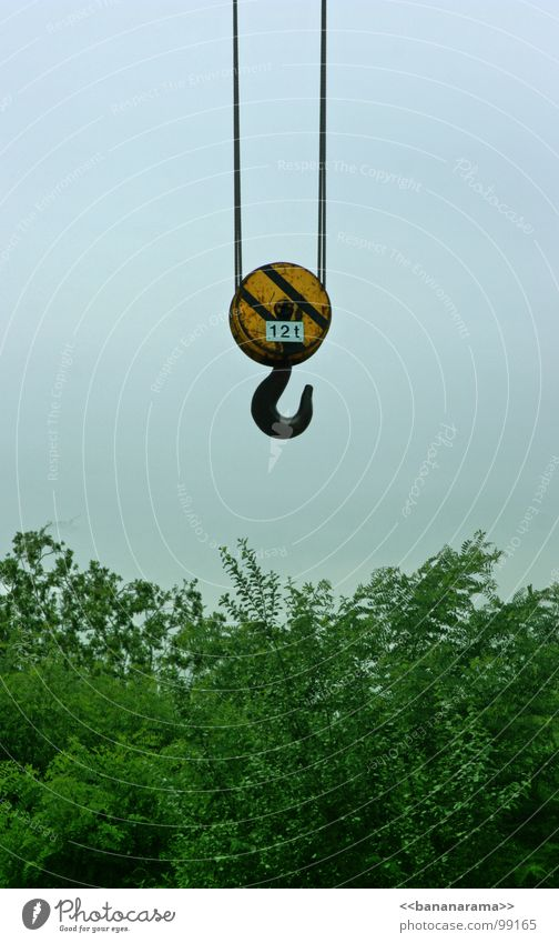 Sky Green Blue Black Yellow Gray Metal Rope Industry Logistics Bushes Hover Crane Lift Hang up Checkmark