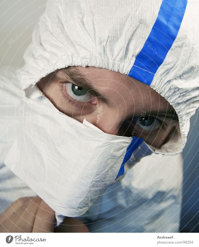 Work and employment Dirty Safety Clean Protection Factory Mask Science & Research Hide Painter Hooded (clothing) Dust Chemistry Laboratory Working clothes