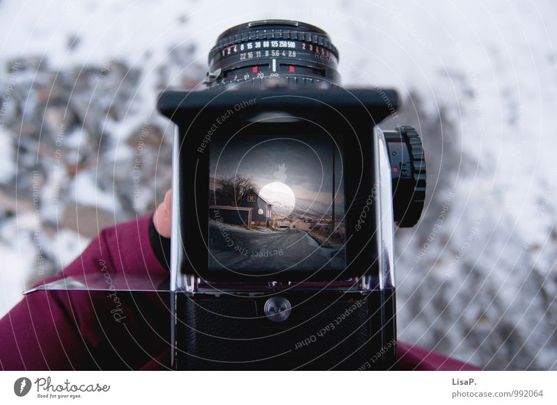 Joy Winter Work and employment Snowfall Contentment To enjoy Camera Analog Take a photo Viewfinder Medium format Collector's item