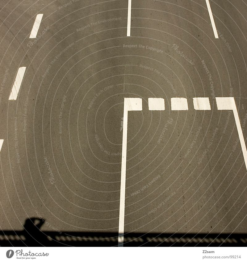 marker madness Striped Federal highway Tracks Transport Driving Urban traffic regulations Logistics Photographer Minimal Graphic Physics Signs and labeling
