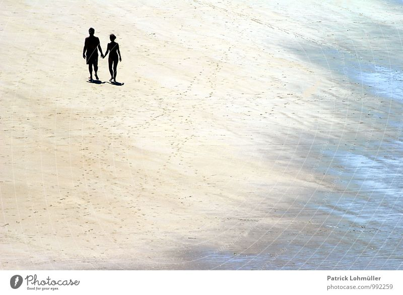 Human being Nature Beautiful Water Summer Calm Beach Adults Movement Love Happy Sand Couple Together Power Contentment
