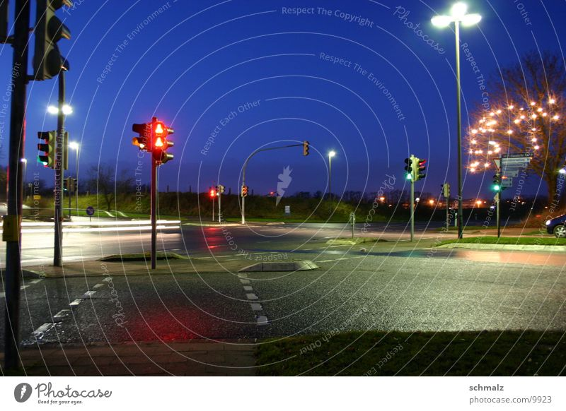 The crossroad Long exposure Night Transport Street Mixture Car Twilight Sky Light Evening