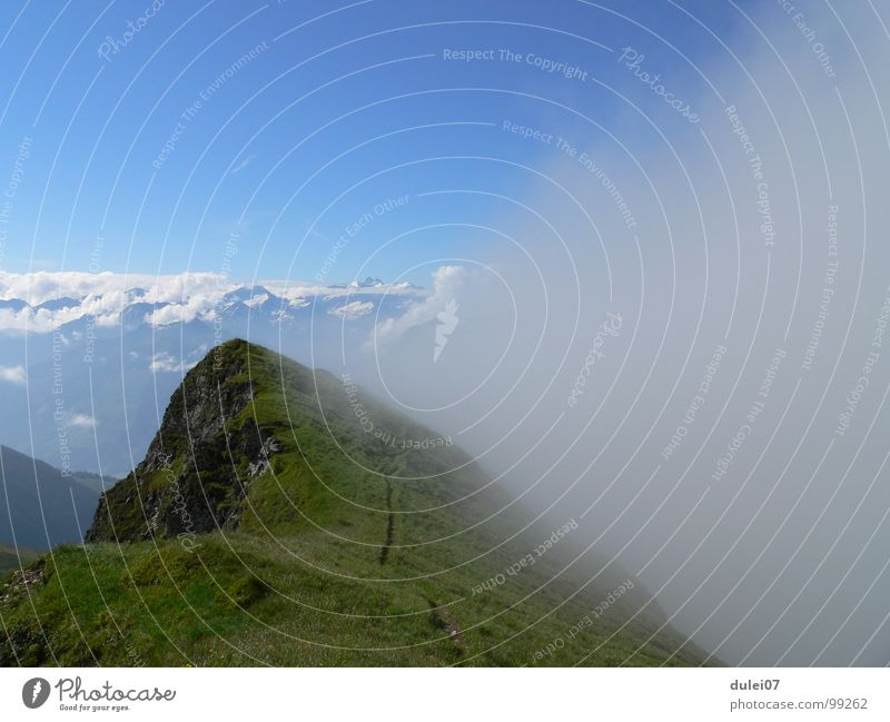 Mountain Hiking Fog Large Mountaineering