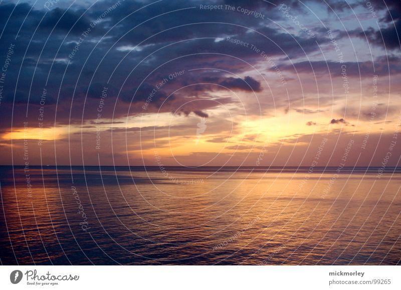 Beautiful Sun Ocean Blue Beach Calm Clouds Emotions Moody Orange Peace Eternity Thailand