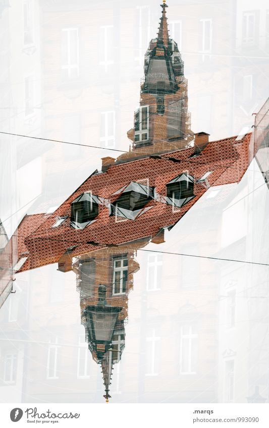 munster of freiburg Manmade structures Building Architecture Church spire Window Roof Exceptional Hip & trendy Crazy Perspective Surrealism Symmetry Irritation