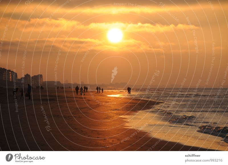 Belgian Game Pass II Human being Landscape Clouds Sun Sunrise Sunset Sunlight Beautiful weather Waves Coast Beach Ocean Town House (Residential Structure) Going