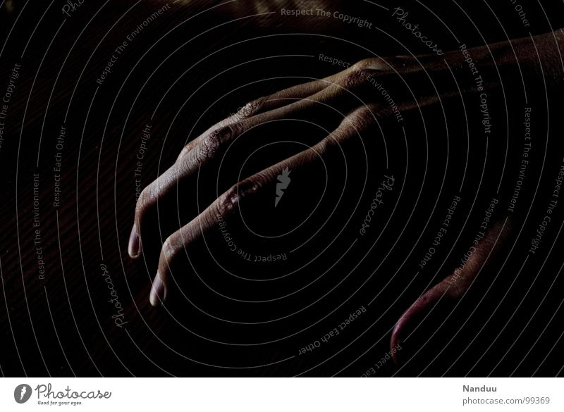 Human being Hand Black Dark Power Fingers Force Might Thin Long Catch Fingernail Feeble Joint Narrow Gigantic
