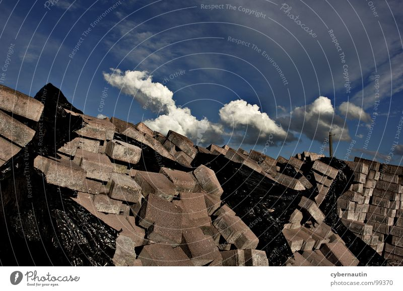 Sky Clouds Work and employment Stone Weather Construction site Gale Passion Thunder and lightning Storm Build Electricity pylon Chaos Horticulture Covers (Construction) Force of nature