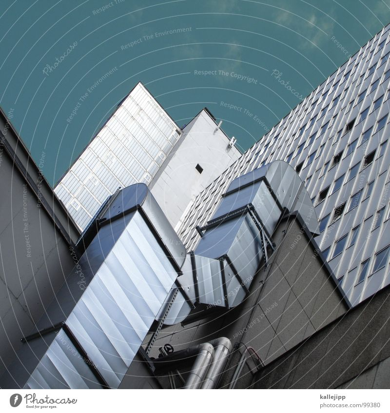 Sky City Life Berlin Window Landscape Architecture Room Concrete High-rise Facade Round Level Living or residing Balcony Story