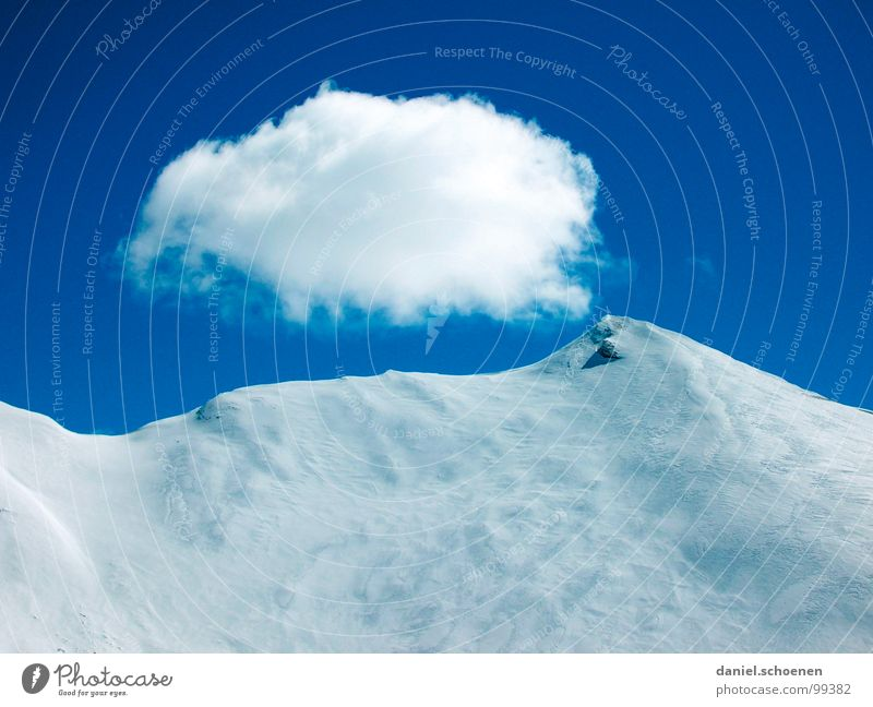 deep powder snow Clouds Peak Mountaineering Hiking Switzerland Winter Sky Alps Snow Ice Point Weather Climbing