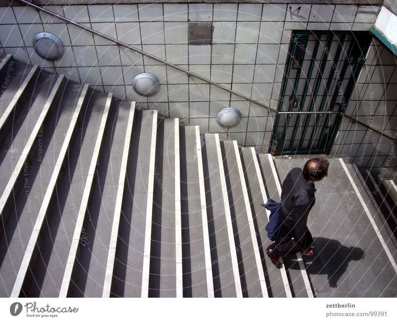 Human being Man Vacation & Travel Loneliness Berlin Architecture Door Closed Stairs Open Underground Entrance Upward Handrail Tourist