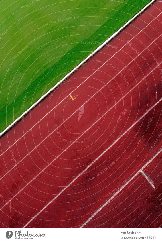 Loooos! SECOND Racecourse Stadium Track and Field Red Green White Tracks Tilt Hundred-metre sprint Jogging Endurance Thrashing Bonus Sports Playing go Walking