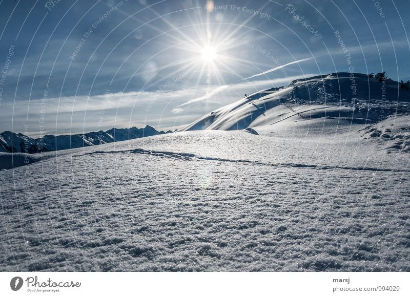 First a lead! Vacation & Travel Tourism Trip Winter Snow Winter vacation Mountain Nature Landscape Sky Sunlight Weather Beautiful weather Ice Frost Hill Alps